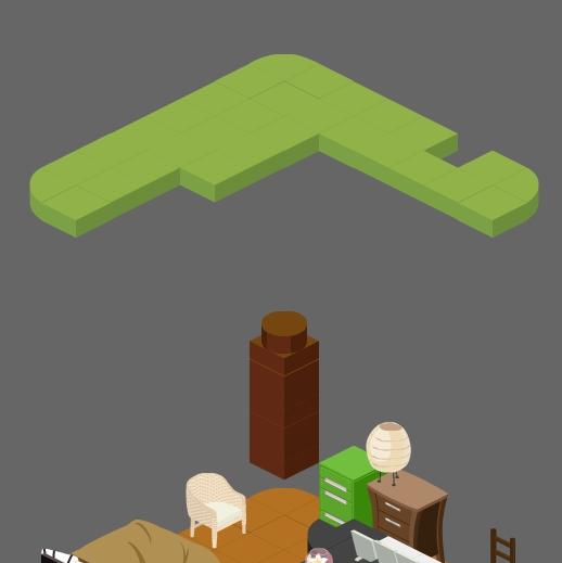 アメーバピグの部屋 キューブ