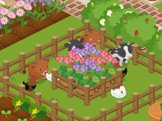 牛と鶏たち