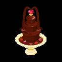 チョコレートフォンデュの噴水